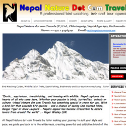 Nepal Nature dot com Travels